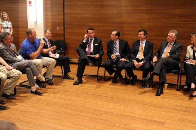 Gov. Terry McAuliffe meets with companies in Tandem NSI program in Rosslyn