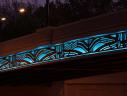 Route 50 bridge LED light show (photo via Vicki Scuri)