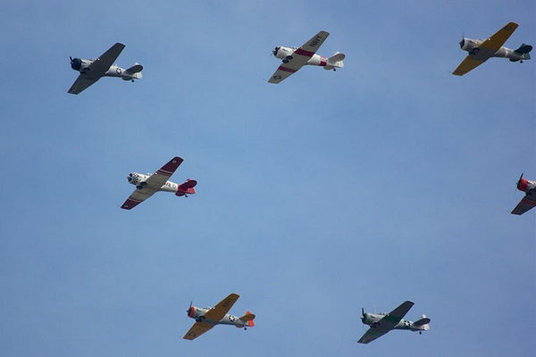 World War II-era aircraft flyover on Sunday (Flickr pool photo by Keith Hall)