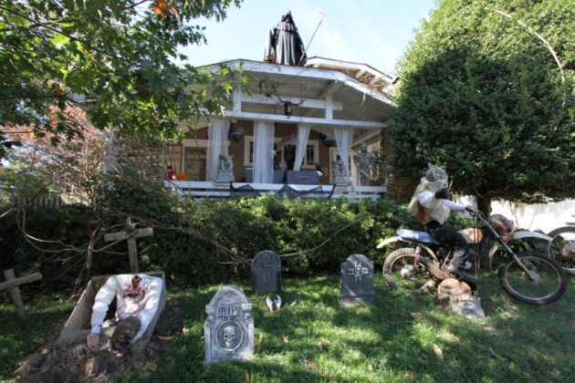 Halloween decorations at a house on N. Jackson Street