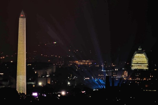The Concert for Valor, as seen from Arlington (Flickr pool photo by Rob Cannon)