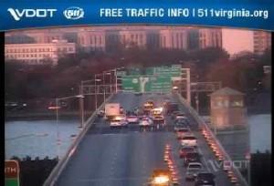 Crash on 14th Street Bridge 11/21/14