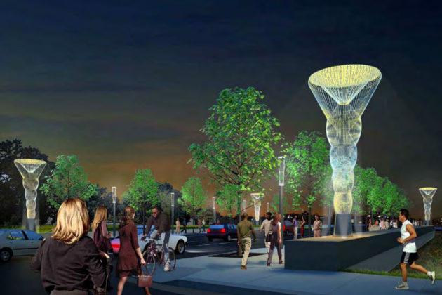 artist rendering of rosslyn s corridor of light project image via