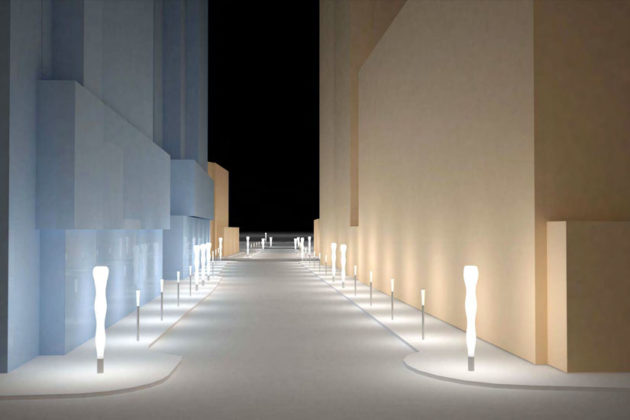 Artist rendering of Rosslyn's Corridor of Light project (image via Arlington Arts)