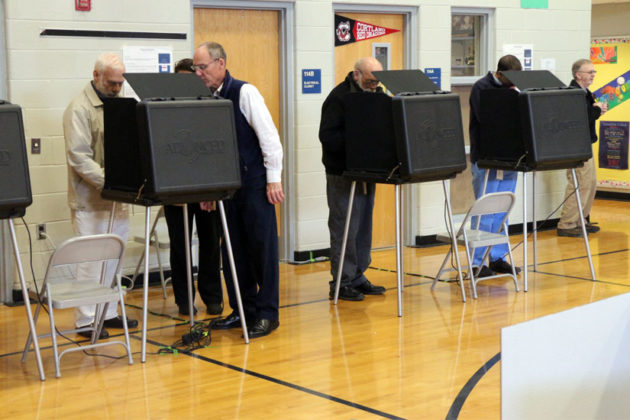Voting booths on 11/4/14