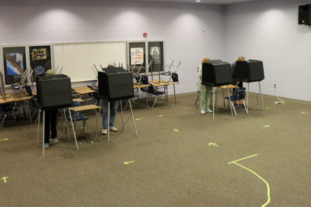 Voters at Washington-Lee High School
