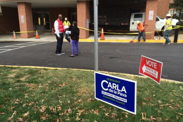 Polling station in Pentagon City 11/4/2014