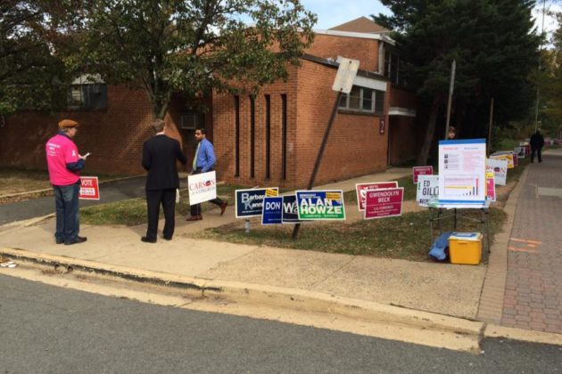 Polling station in Rosslyn 11/4/14