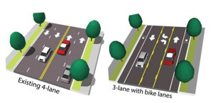 The proposed Wilson Boulevard improvements (image via Arlington County