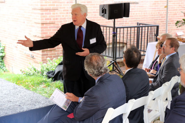 Rep. Jim Moran speaks to the crowd at the groundbreaking for the Union at Queen apartments