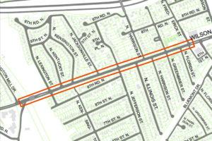 Wilson Blvd improvements map (image via Arlington County)