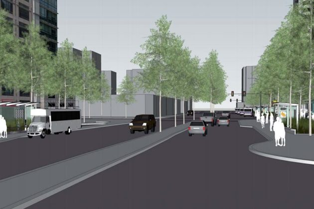 Rendering of N. Fairfax Drive
