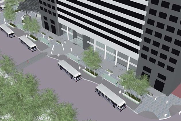 Rendering of changes proposed for N. Stuart Street
