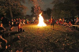 Halloween bonfire in the Lyon Park neighborhood (file photo)