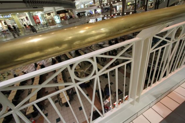 Existing mall handrails
