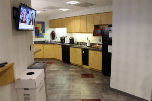 Eastern Foundry's kitchen and break room