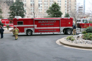 Arlington responds to suspected hazmat at Crystal Plaza Apartments, Dec. 8, 2014