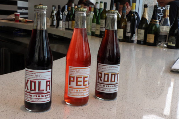 Pizza Vinoteca's house-made sodas