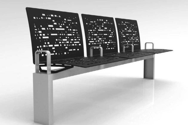 A bench designed for Rosslyn (rendering courtesy Rosslyn BID)