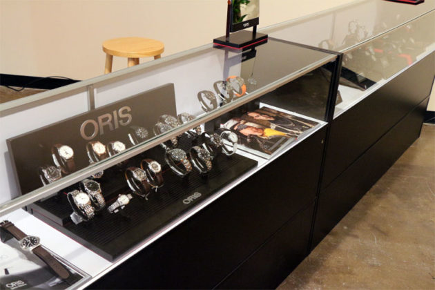 Watches on display in Ballston Common Mall's Watchstyle