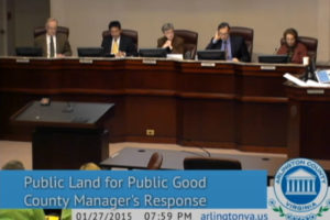"The Arlington County Board discusses the ""Public Land for Public Good"" initiative's future"