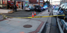 The scene where a man was run over by an SUV on Columbia Pike