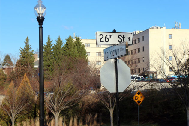 One of the new street signs in Arlington, soon to be the norm