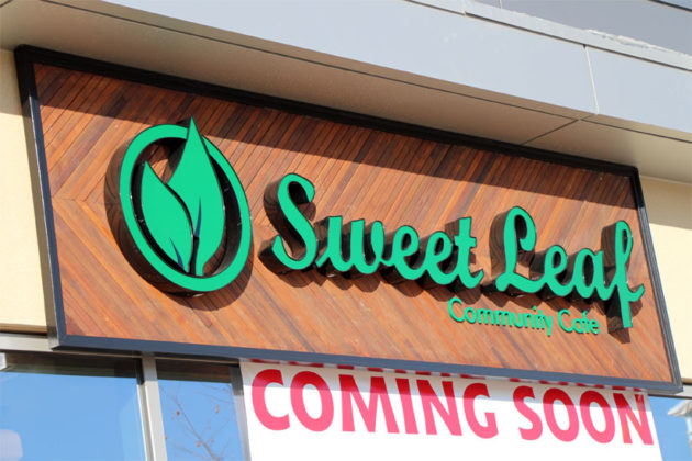 The new Sweet Leaf sign in Ballston