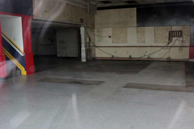The interior of the future Vespa of Arlington location