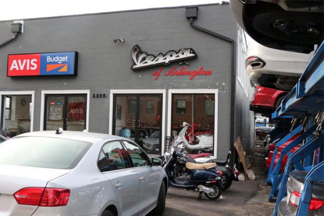The current Vespa of Arlington storefront