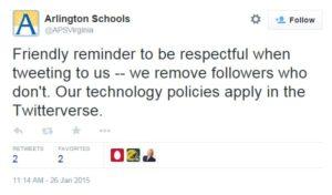 Arlington Public Schools tweet