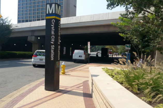18th Street S. outside the Crystal City Metro stop (photo via Arlington County)