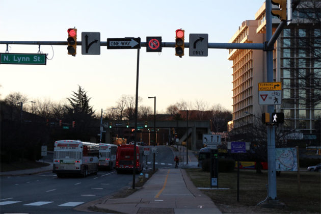 The new no right turn signal at the Intersection of Doom