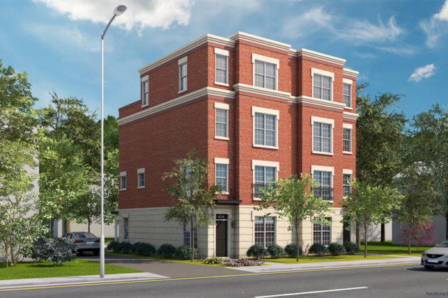 A rendering of the planned duplex at 4210 Washington Blvd (image via American Signature Properties)