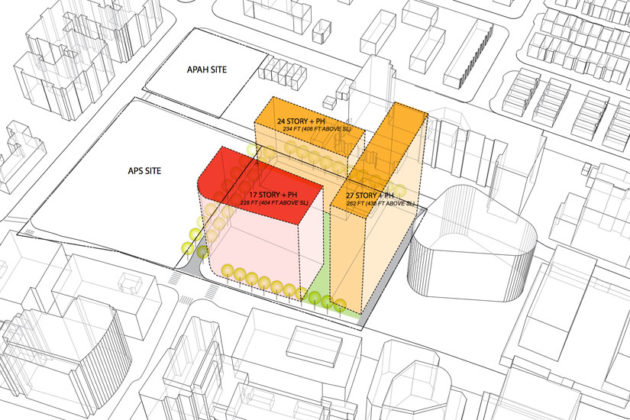 Penzance's proposal to redevelop Rosslyn Highlands Park (image via Arlington County)