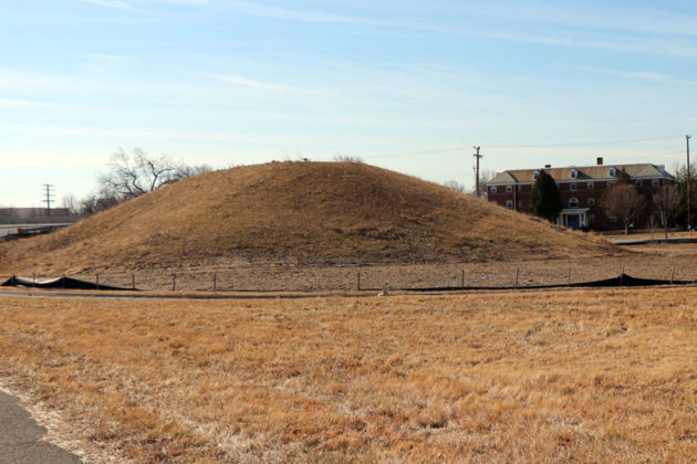 The mound of dirt at the ramp from northbound Washington Blvd to westbound Route 50