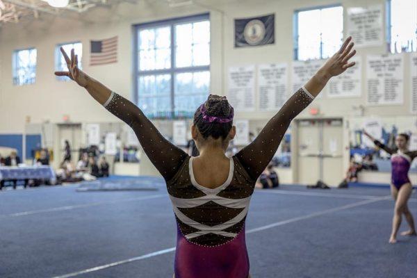 Arlington Aerials youth gymnastics invitational (Flickr pool photo by Dennis Dimick)