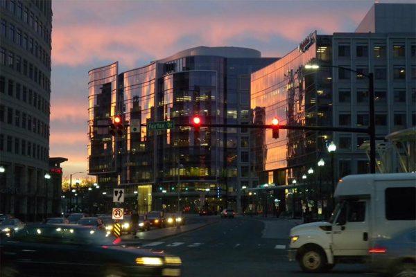 Ballston office buildings in the morning (photo courtesy Peter Roof)