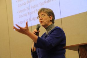 Mary Hynes at the Arlington Democrats meeting on 2/4/15