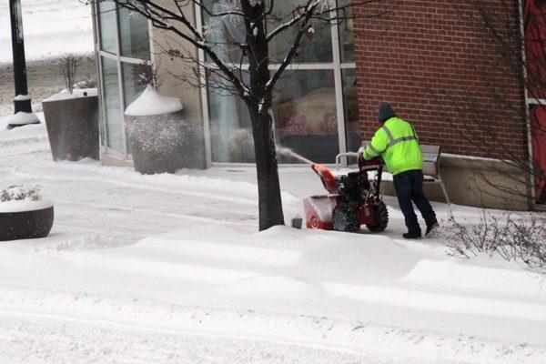 Plowing snow in Pentagon City