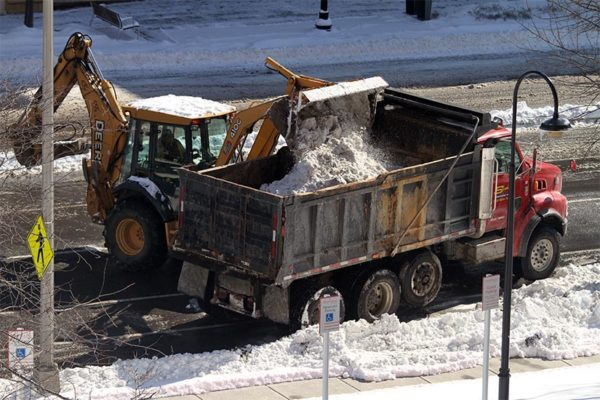Snow removal in Pentagon City 2/17/15