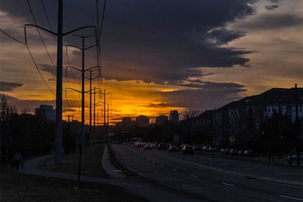 S. Glebe Road and the Four Mile Run Bike Path at sundown (Flickr pool photo by Erinn Shirley)