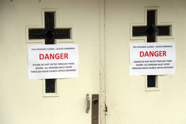 Danger signs after Trinity Episcopal Church's preschool was found to have asbestos