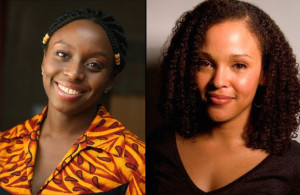 Authors Chimamanda Ngozi Adichie and Jesmyn Ward (images courtesy Arlington Public LIbrary