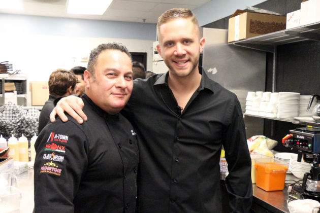 Co-owner and chef Mike Cordero, left, with co-owner Scott Parker