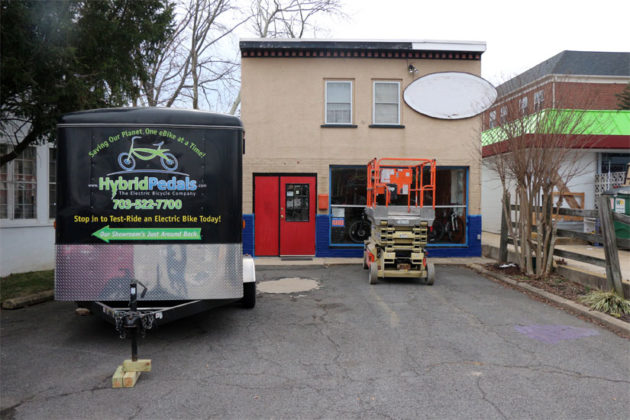 The new location of Hybrid Pedals, at 822 N. Kenmore Street
