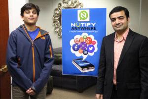 Notify Anywhere Founder Ajay Maheshwari, right, and Sahaj Sharda