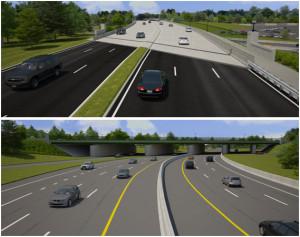 Rendering of the future Washington Blvd bridge over Route 110