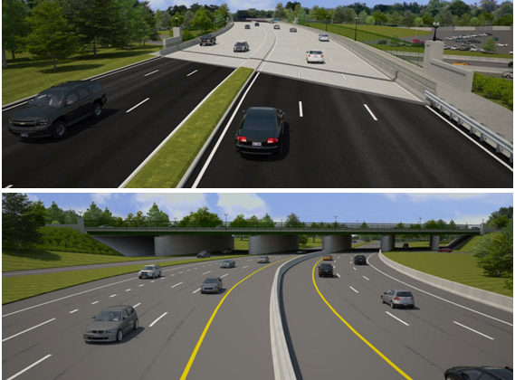 Rendering of the future Washington Blvd bridge over Route 110