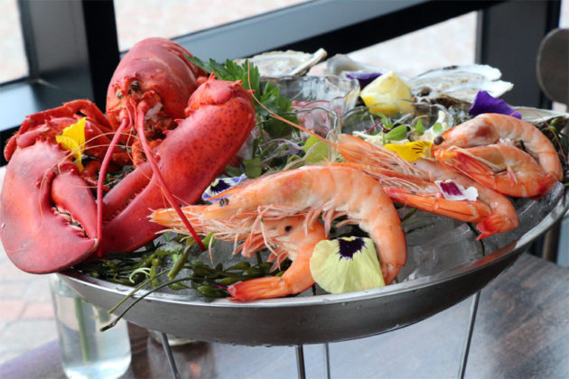The large seafood platter at SER in Ballston